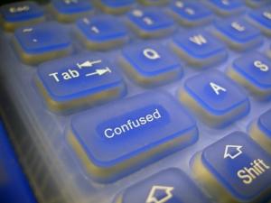 confused keyboard